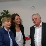 Manuela Vollmann, Judith Pühringer und Rudolf Hundstorfer (v.l.n.r.) haben den Markt genossen.