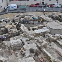 TransitmitarbeiterInnen bei archäologischen Grabungen in St. Pölten