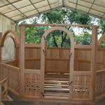 Dieser Pavillon wird von ABO in Rankweil gebaut