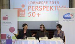 Pressekonferenz mit Vizebürgermeisterin Renate Brauner, DSE-Präsident Walter Wojcik und AMS Wien-Chefin Petra Draxl