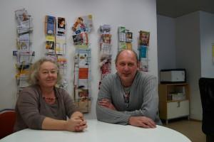 Putz-Alb (Projektleiterion Beratung) und Geschäftsführer Glaser unterstützen bei der Arbeitssuche.