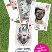 Tschutti-Heftli: Fußballsticker sammeln und Gutes tun